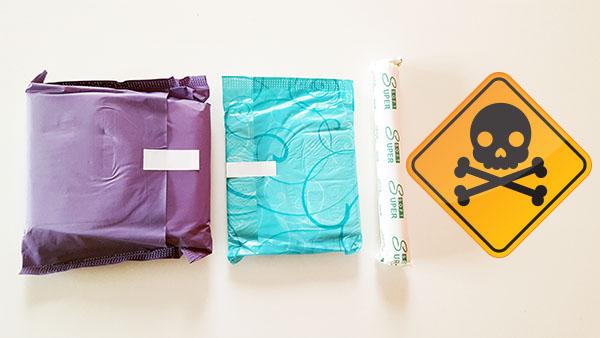 Les servietes hygiéniques peuvent être responsables d'irritations, de démangeaisons et de problèmes de santé du fait des substances toxiques qu'elles contiennent